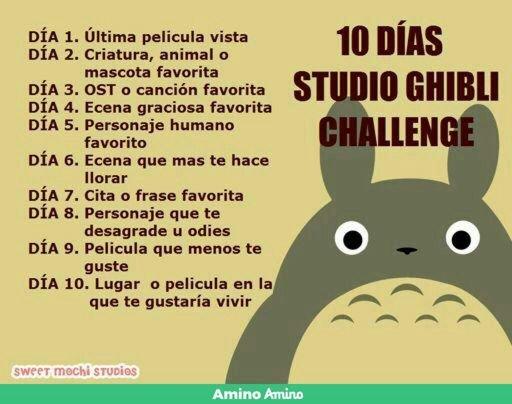 10 Dias Studio Ghibli Dia5 Amantes Del Studio Ghibli Amino
