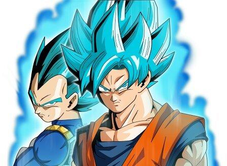 Dibujo De Goku Y Vegeta En El 14 De Febrero Para La Amistad