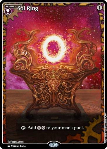 sol ring proxy digital alter custom masterpiece frame