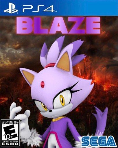 I Made A Custom Video Game Cover Starring Blaze Sonic The Hedgehog Amino