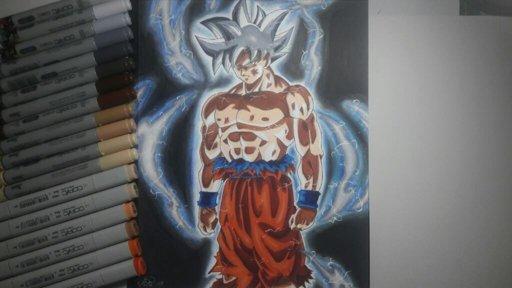 Goku mastered ultra instinct drawing dragonballz amino - Goku ultra instinct sketch ...