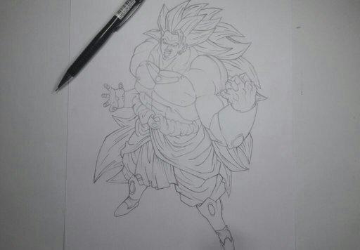 desenho do broly ssj3 dragon ball oficial amino