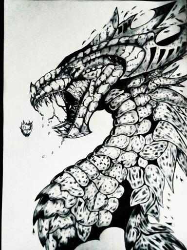 Dibujando dragón en la naturaleza | Art Amino