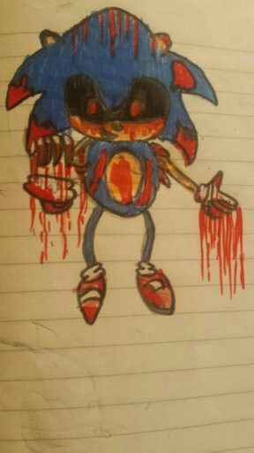 sonic exe drawing