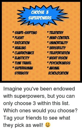 if you were a superhero in infinity war, which superpowers would you