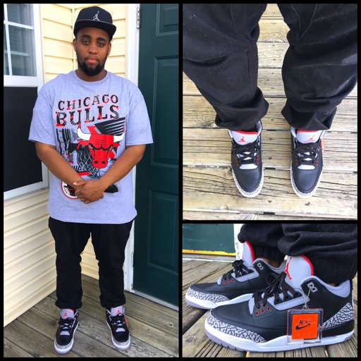 black cement 3s outfit