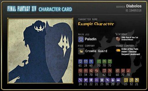 FFXIV Character Card | Wiki | Final Fantasy XIV Amino! Amino