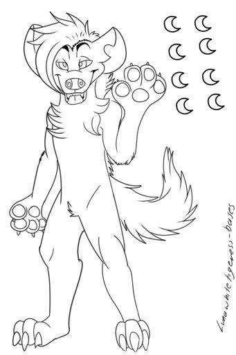 F2u Hyena Base Furry Amino