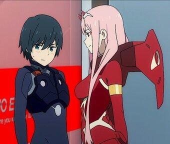 Zero Two with Hiro | Anime Amino