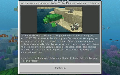 The turtle update - Minecraft Bedrock Editon | Minecraft Amino