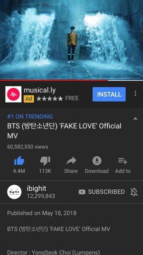 BTS Fake Love MV Hits 60 MILLION VIEWS | Park Jimin Amino