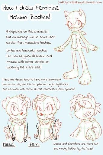 Female Mobian Drawing Tutorial Sonic The Hedgehog Amino