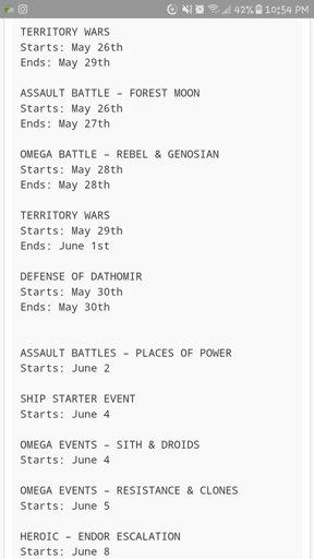 Swgoh Events Calendar.Swgoh June Event Calendar Wiki Star Wars Amino