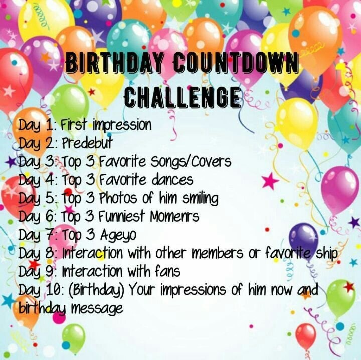 Day 1 Ns Birthday Countwon