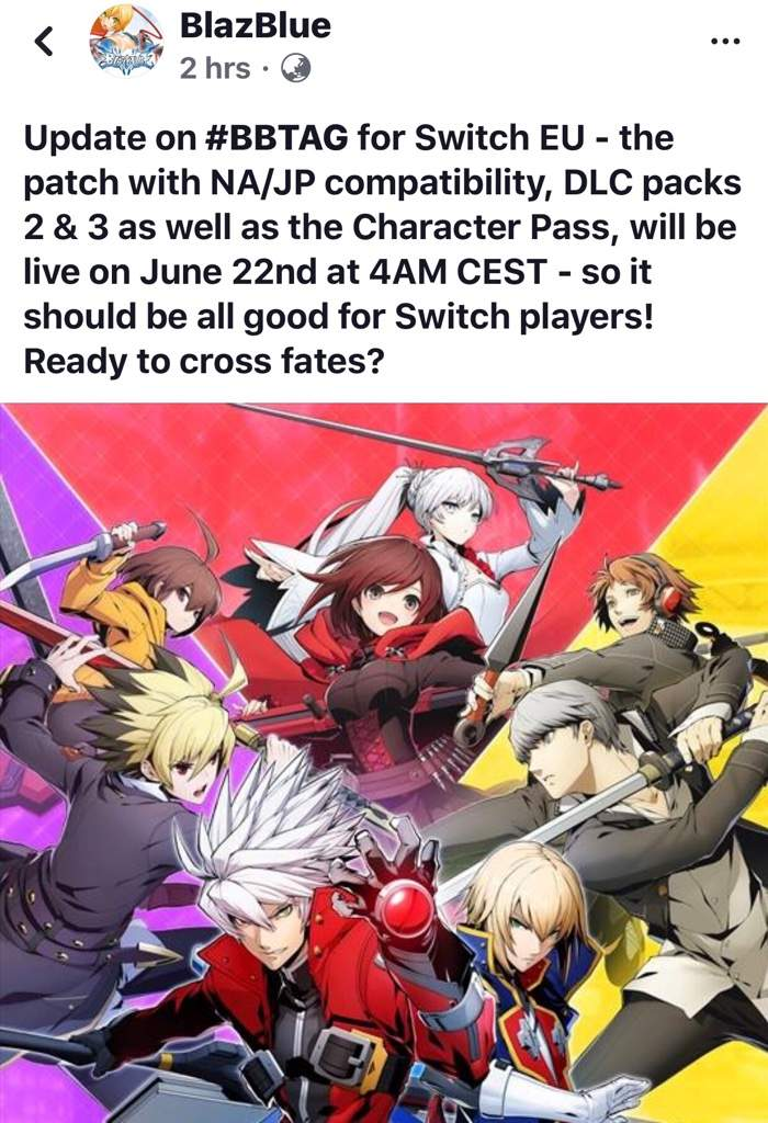 Here's an update for any Europe switch players excited for
