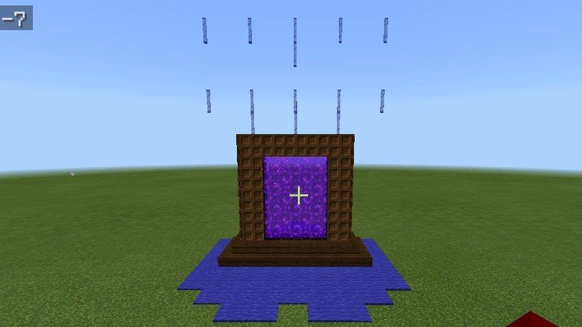 The chocolate nether portal | Minecraft Amino
