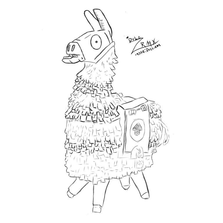 the drawing of lama fortnite  fortnite battle royale