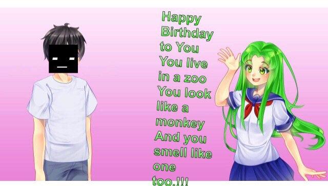 Happy Birthday Yandere Dev Yandere Simulator Amino