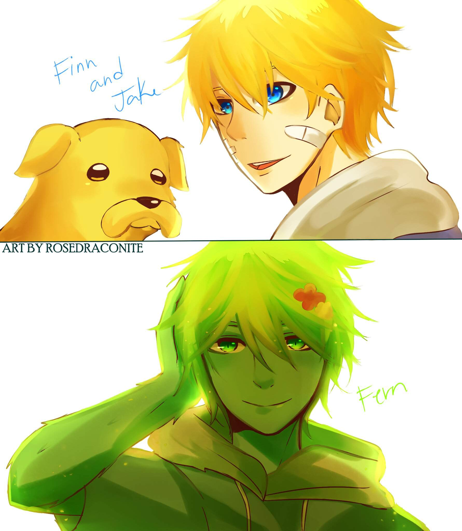 Finn And Fern As Well As Jake Fanart Adventure Time Amino Amino
