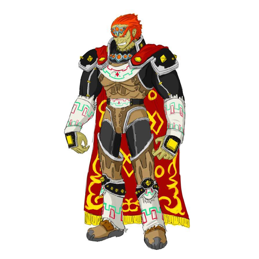 Smash Ultimate Ganondorf In His Default Standing Pose From