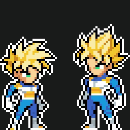 Pixel Art Goku E Gohan Super Saiyajin Dragon Ball Oficial