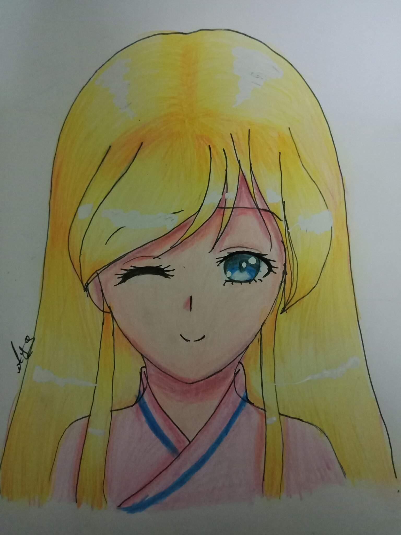 درس رسم بنت انمي خطوة بخطوة الفن والرسم Amino