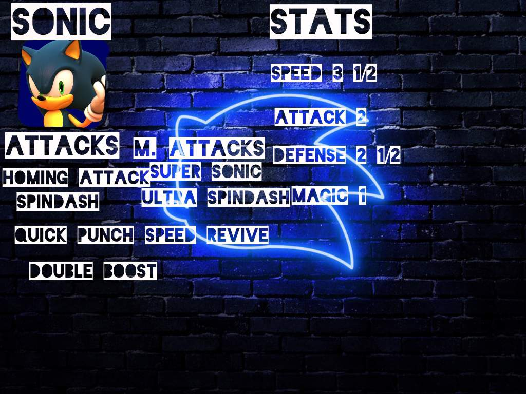 Sonic RPG Stats Card | Sonic the Hedgehog! Amino
