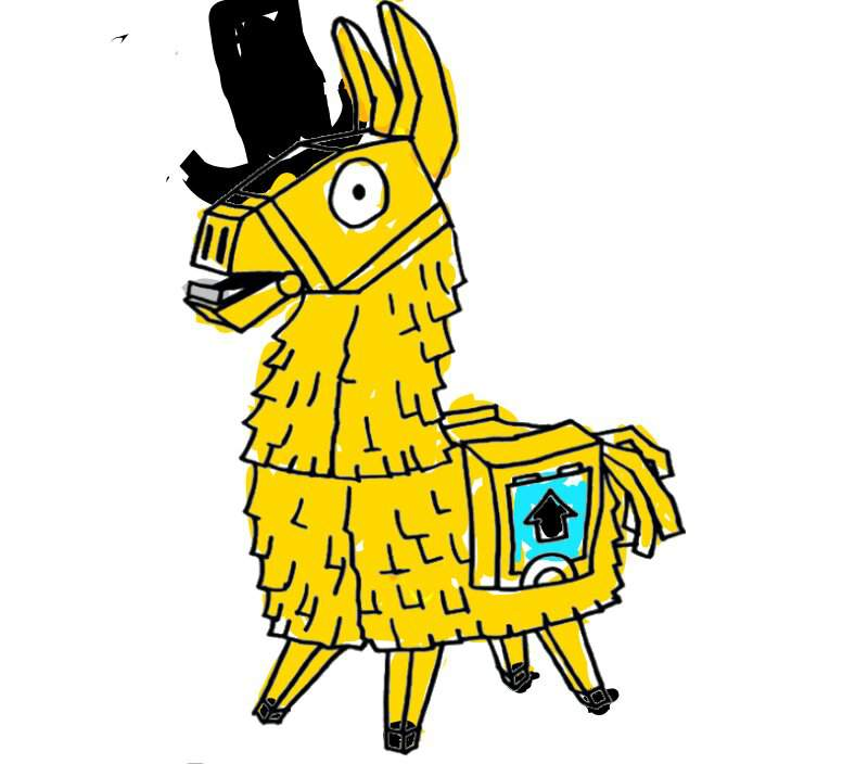 Golden Llama Drawing Not That Good Xd Fortnite Battle