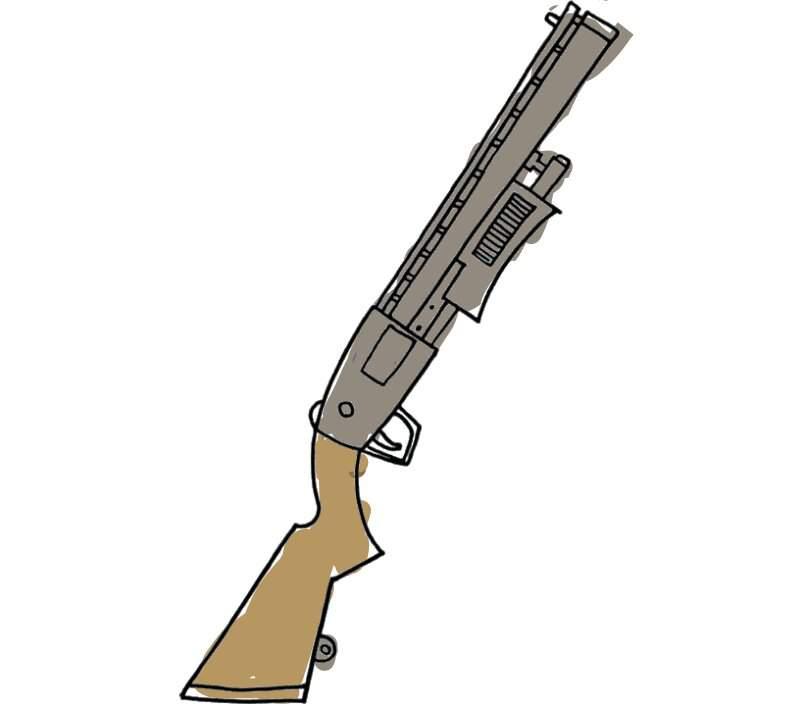 Pump Shotgun Drawing Fortnite Battle Royale Armory Amino