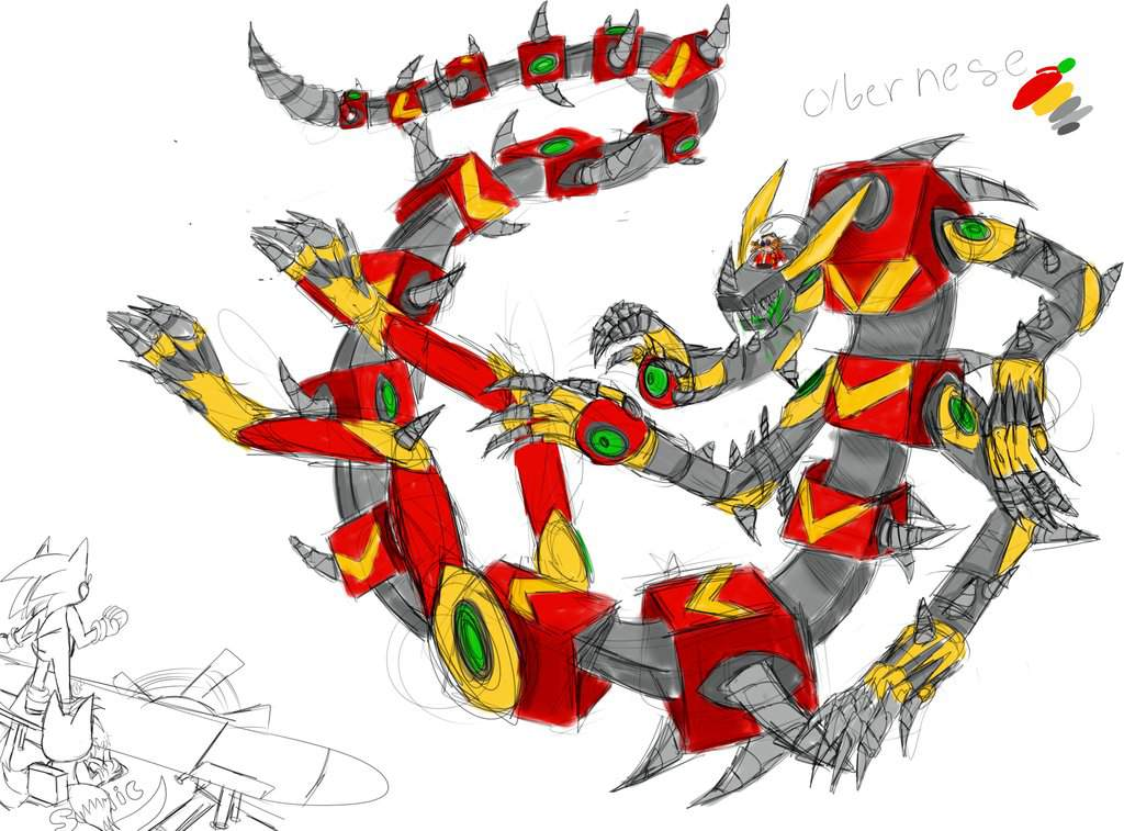 Cybernese Eggman Robot Design Sonic The Hedgehog Amino