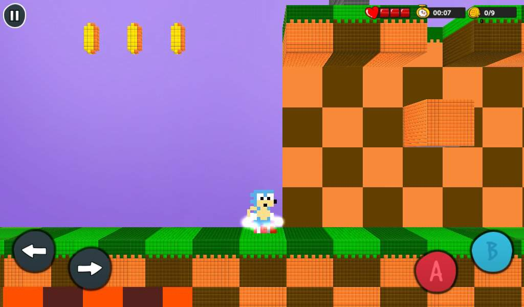 Sonic In Bloxels Green Hill Zone Act 1 Sonic The Hedgehog Amino