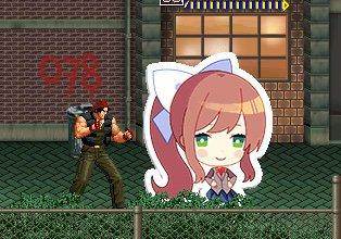 Monika in OpenBOR  | Doki Doki Literature Club! Amino