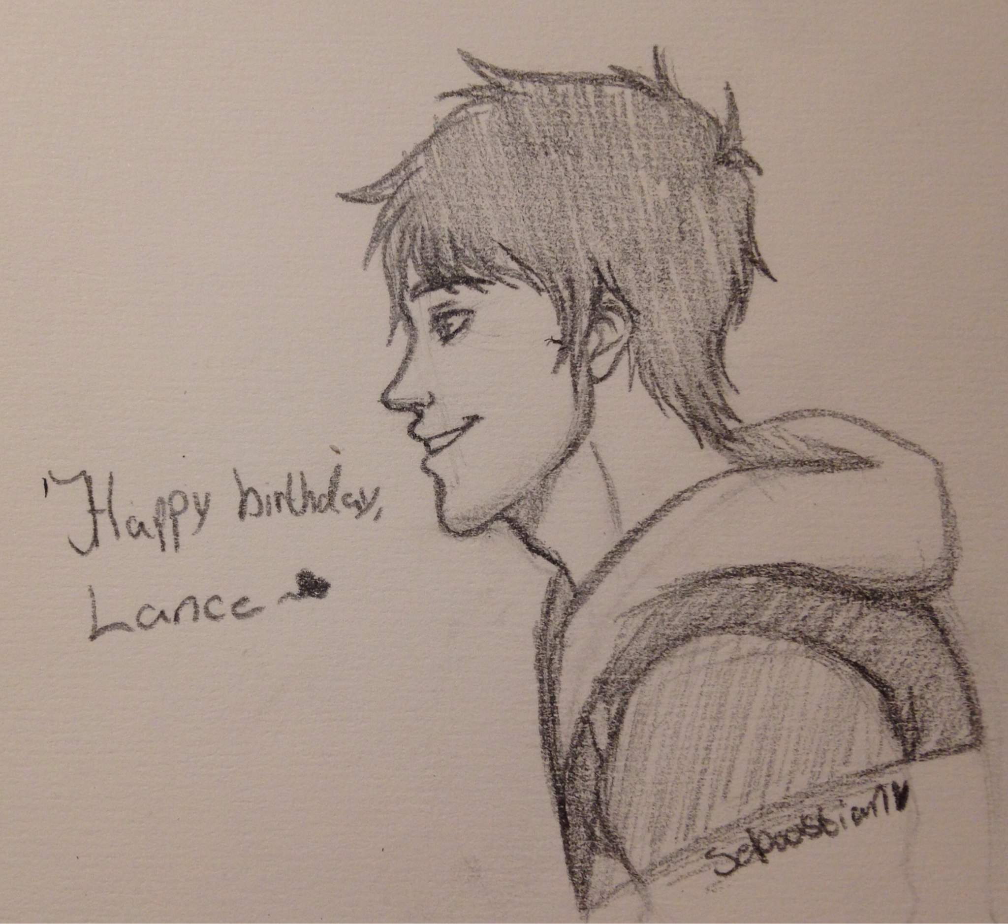 Happy birthday lance pencil sketch