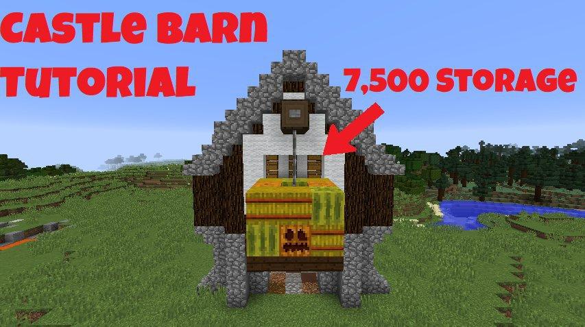 Minecraft Tutorial: Medieval Castle Barn | Minecraft Amino
