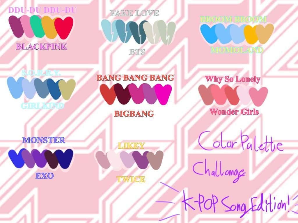 I Made Kpop Color Palettes A Few Days Ago And U H Digital Art Amino