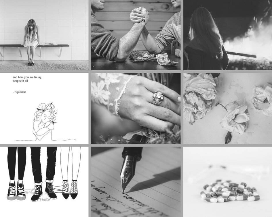 Aesthetic Collage: The Eight-Day Bride (Suggested by Spøøky