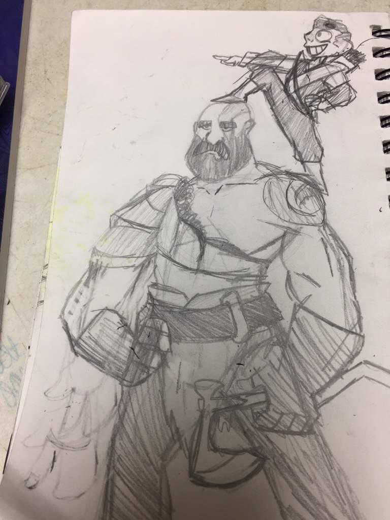 God of war pencil sketch art amino