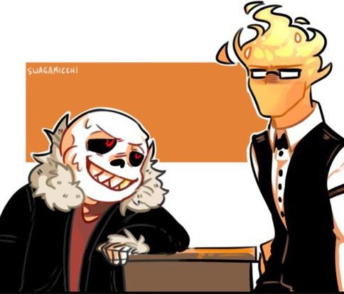 Underfell Sans X Undertale Grillby The Undertale Au Party Amino