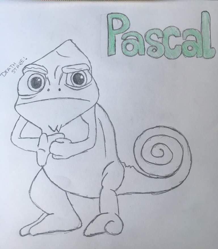 Pascal The Chameleon From Tangled Art Amino