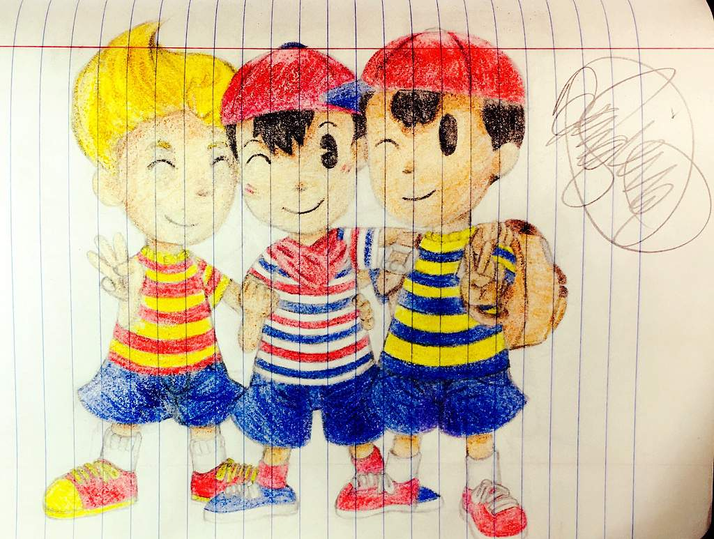 💛💙❤️Lucas, Ninten and Ness❤️💙💛   EarthBound Amino