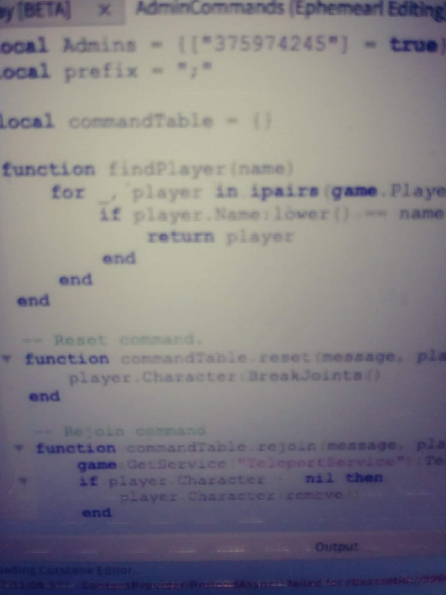 Roblox Script Admin Commands Admin Script Help Roblox Development Amino