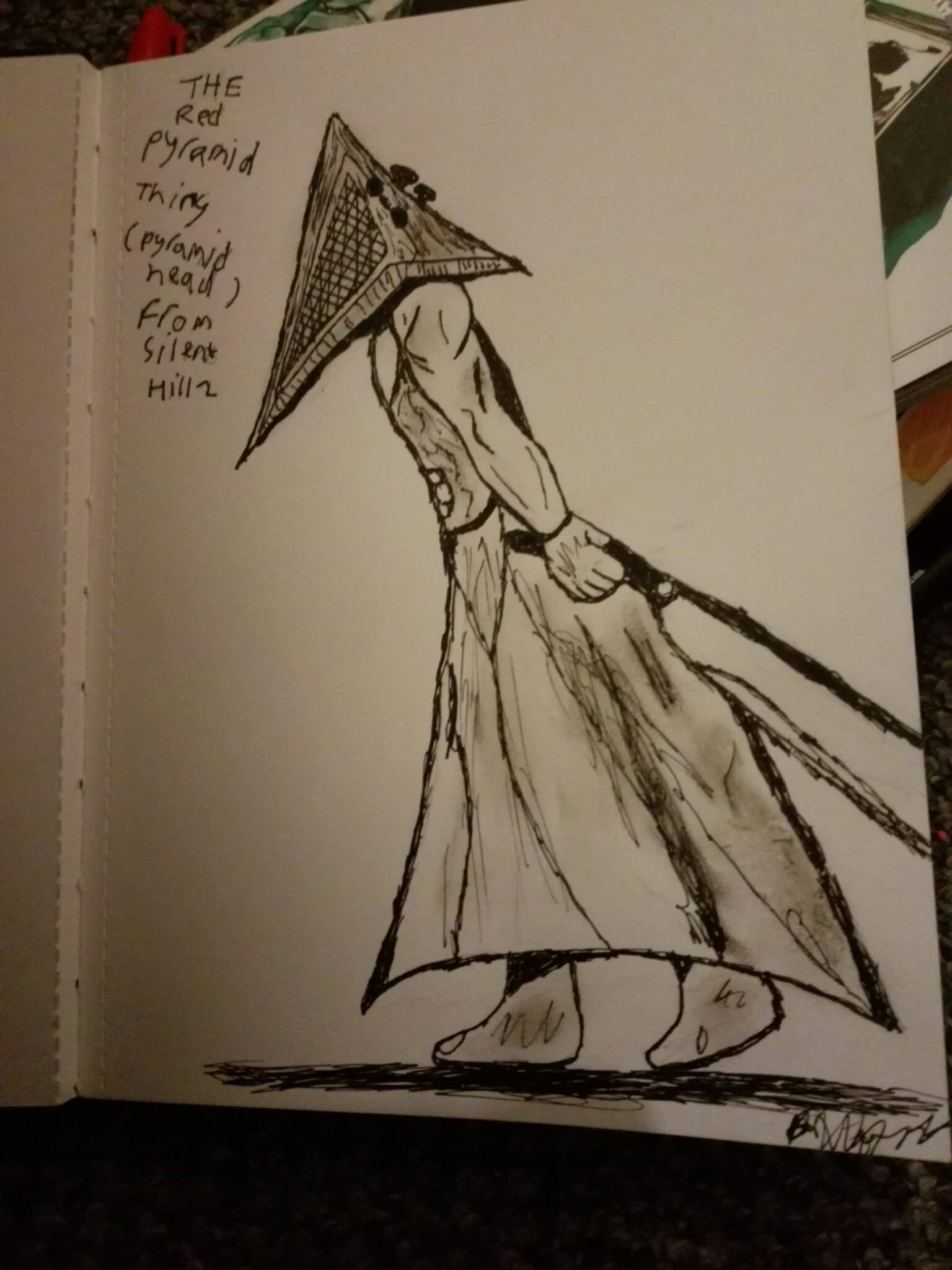 My Firdt Try At Drawing Pyramid Head The Silent Hill Amino Amino