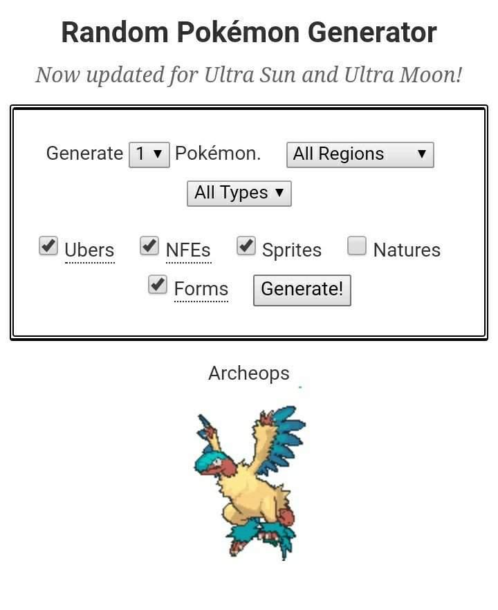pokemon randomizer generator