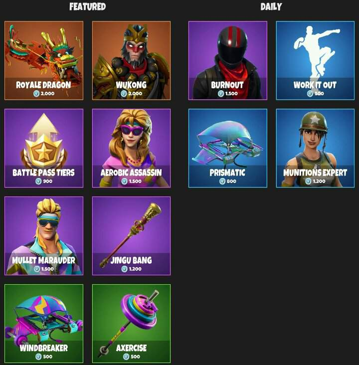 Item Shop For August 13th Fortnite Battle Royale Armory Amino