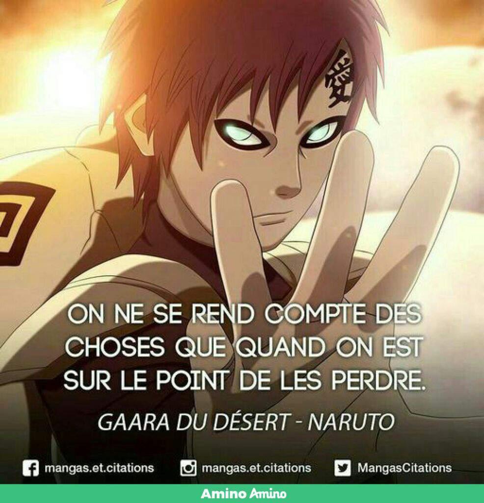 Citation De Gaara Naruto Boruto Fr Amino