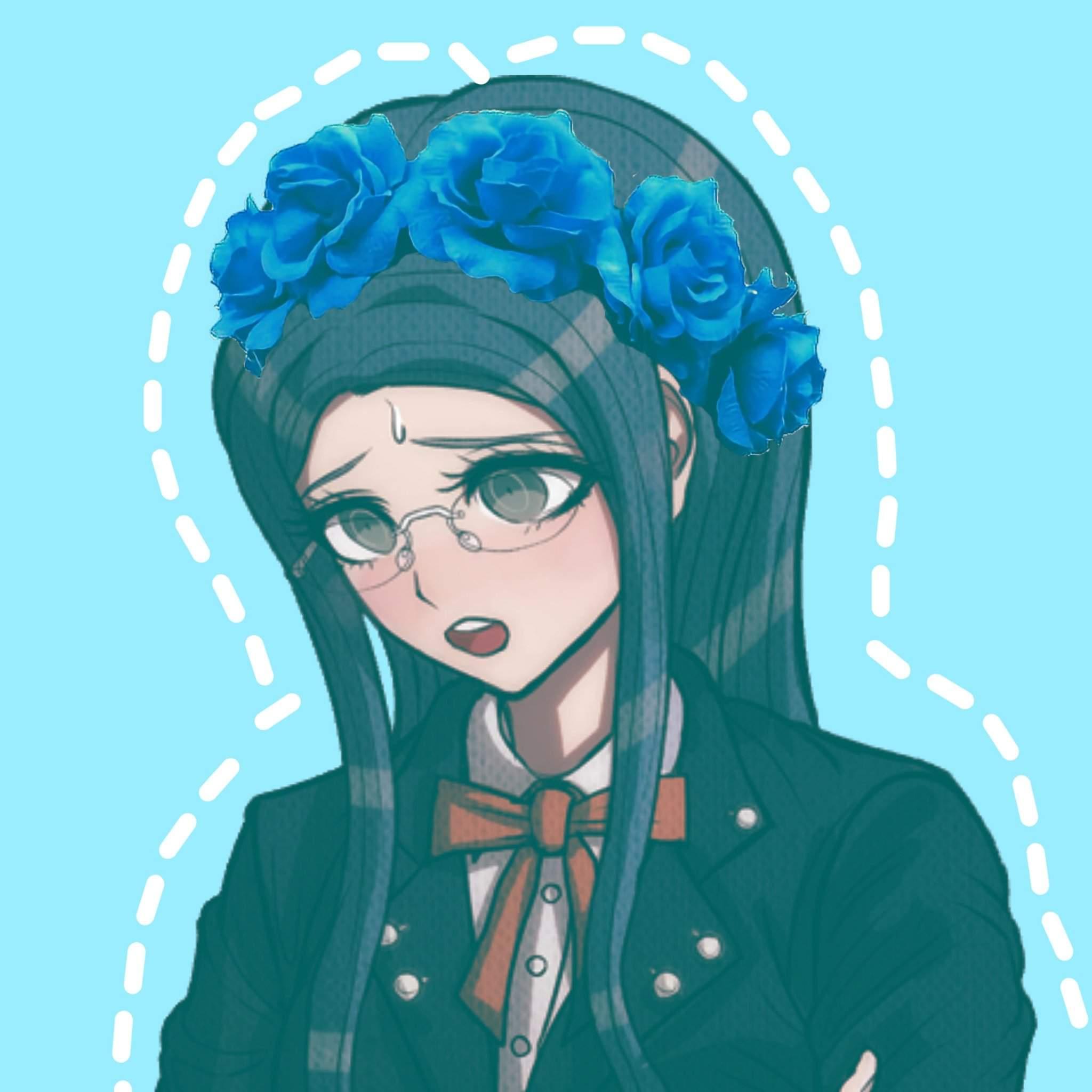 blue anime aesthetic icon