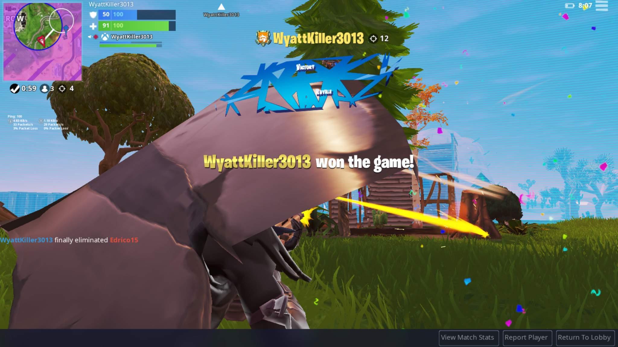 Welp i had a bad fortnite day but got my 248th Win + the new skin