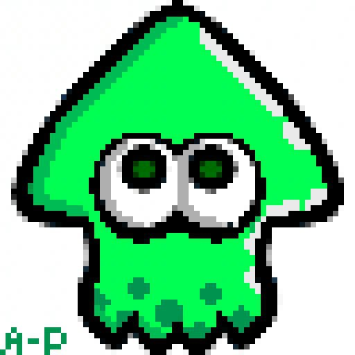 Inkling And Octoling Pixel Art Splatoon Amino