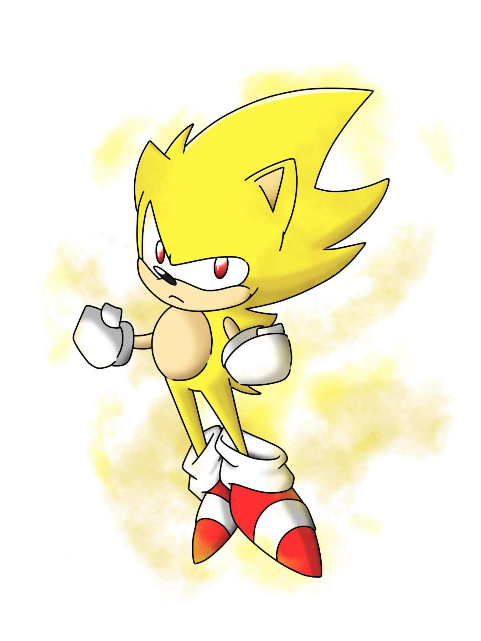 Drawing Of Super Sonic Sonic The Hedgehog Amino