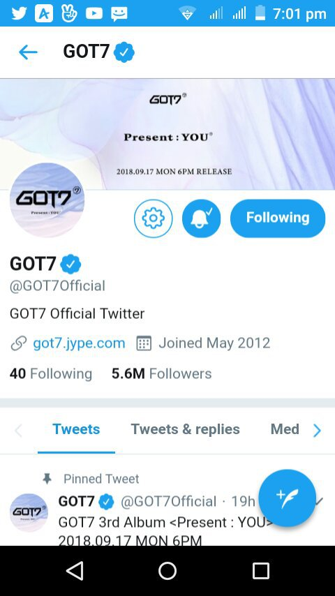 GOT7 changed their Twitter profile and header photo💞 | GOT7 Amino